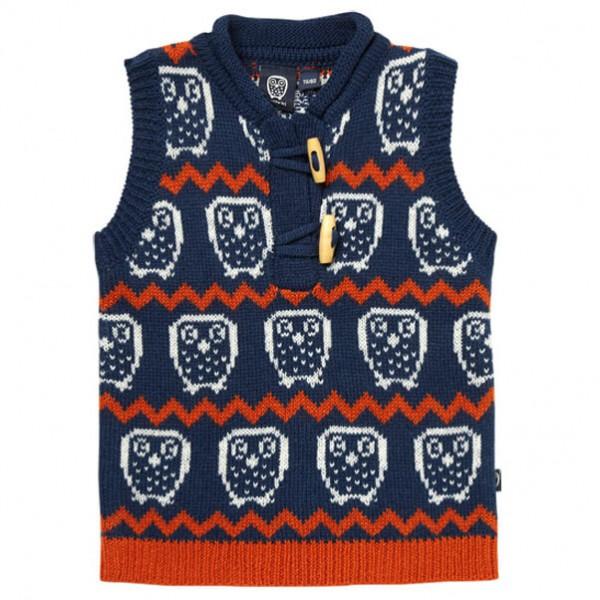 Ej Sikke Lej - Kid's Nordic Knit Waistcoat - Bodywarmer