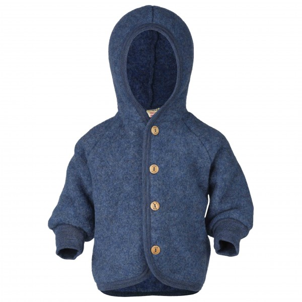 Engel - Kinder Kapuzenjacke mit Holzknöpfen - Wool jacket