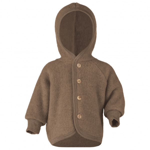 Kinder Kapuzenjacke mit Holzkn ¶pfen - Wool jacket