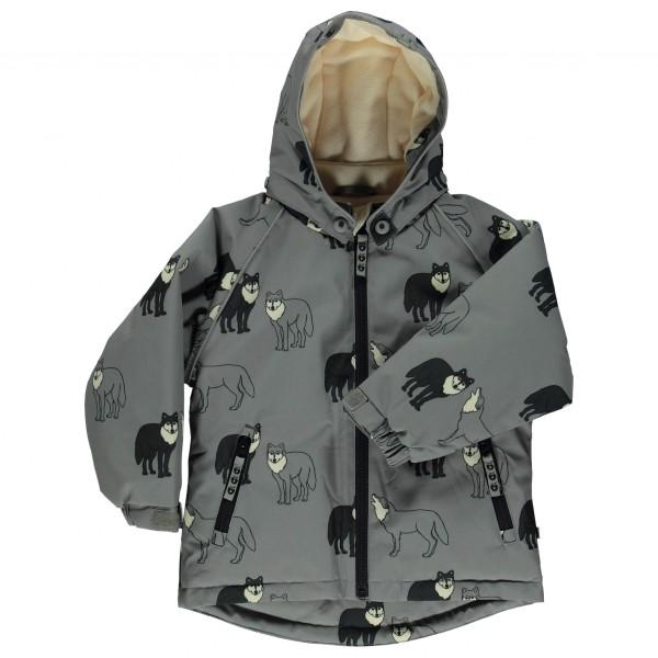 Smafolk - Kid's Winter Jacket with Wolves - Talvitakki