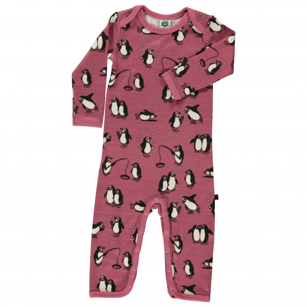Smafolk - Kid's Wool Body Suit with Penguins - Combinaison