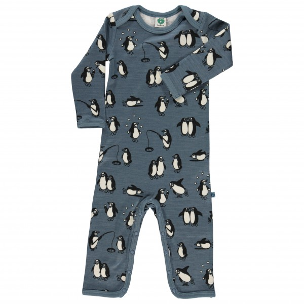 Smafolk - Kid's Wool Body Suit with Penguins - Haalarit