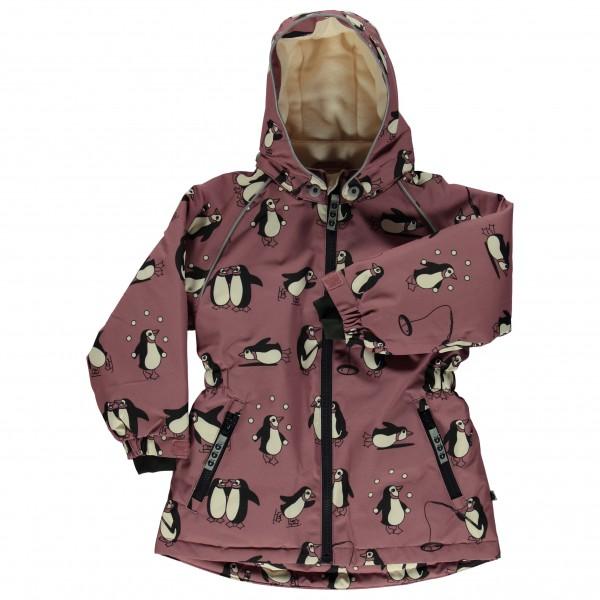 Smafolk - Girl's Winter Jacket with Penguins - Coat