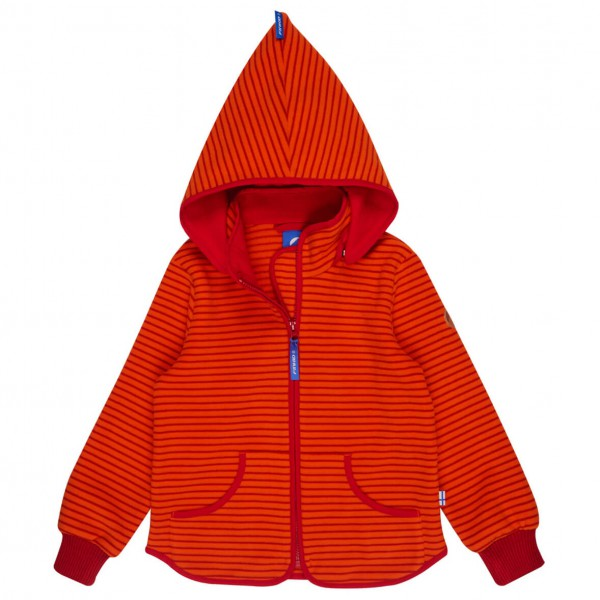 Finkid - Kid's Tonttu Striped Pixie Hood - Fleecejakke