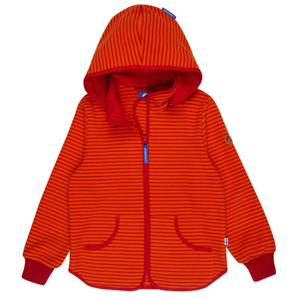 Finkid - Kid's Tonttu Striped Round Hood - Fleecetakki