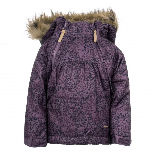 Minymo - Kid's Snow Jacket Herringbone AOP Baby Zippers - Vinterjakke