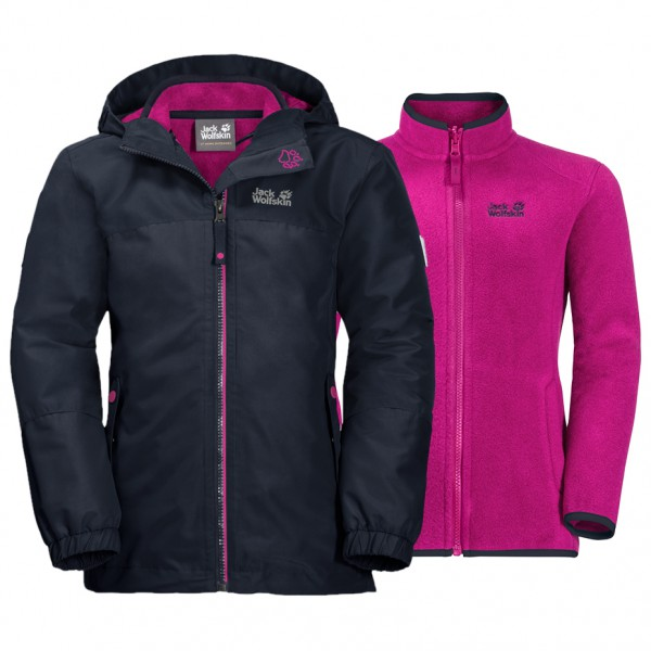super cute a7bd1 fda75 Jack Wolfskin - Girl's Iceland 3in1 Jacket - Doppeljacke - Midnight Blue |  116 (EU)
