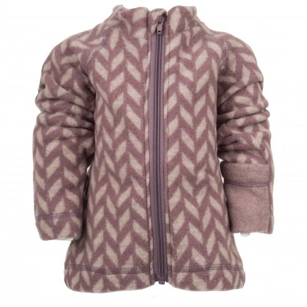 Mikk-Line - Wool Baby Jacket Jacquard - Wollen jack
