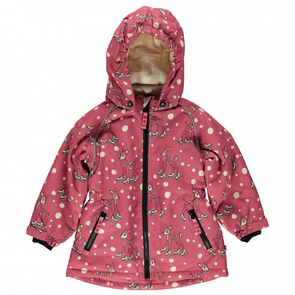 Smafolk - Kid's Winter Jacket for Girl with Deer - Vinterjakke
