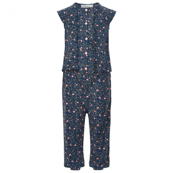 Minymo - Kid's Jumpsuit S/S With AOP Girl - Combinaison