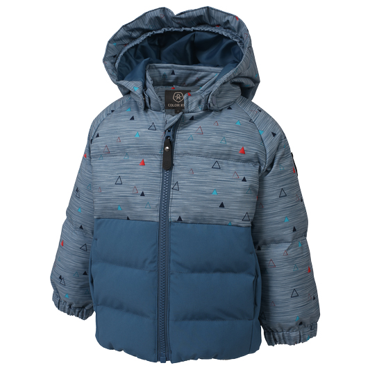 Color Kids - Kid's Sheik Mini Padded Jacket AOP - Vinterjacka