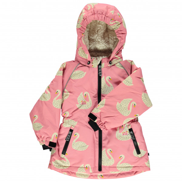 Smafolk - Kid's Winter Jacket with Swans - Vinterjakke
