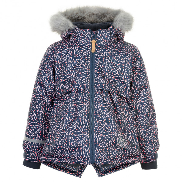 Minymo - Kid's Snow Jacket Herringbone with AOP - Vinterjakke