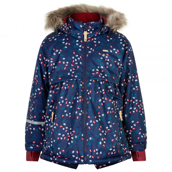 Minymo - Girl's Snow Jacket Herringbone AOP - Winter jacket