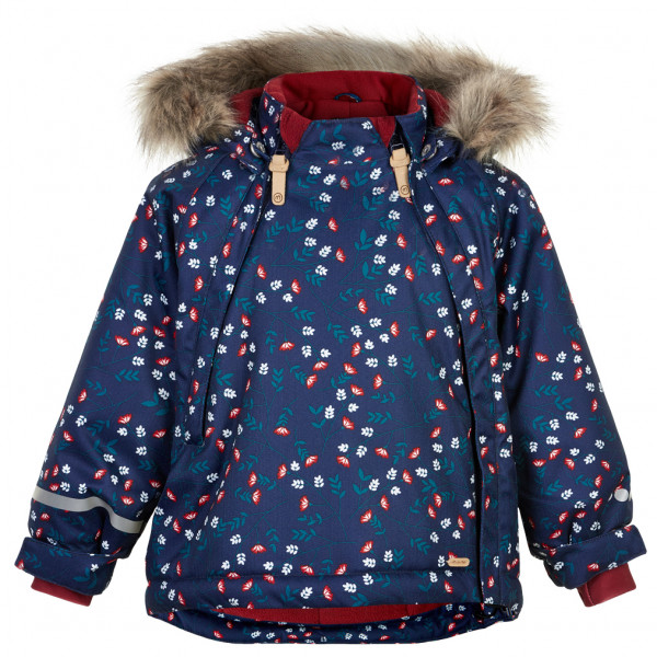 Minymo - Kid's Snow Jacket Herringbone AOP Baby Zippers - Winterjack
