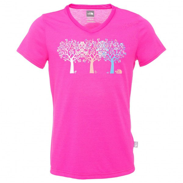 The North Face - Girl's S/S Shady Tree Reaxion V-Neck Tee