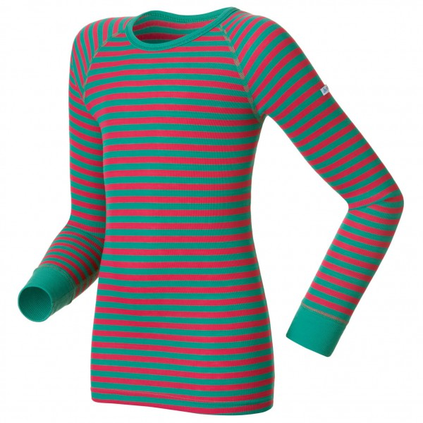 Odlo - Shirt L/S Crew Neck Warm Kids - Syntetisk undertøj