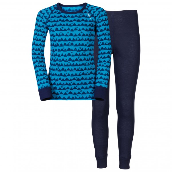 Odlo - Set Shirt L/S Pants Long Warm Kids