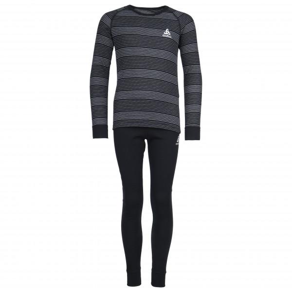 Odlo - Set Shirt L/S Pants Long Warm Kids - Syntetisk undertøj