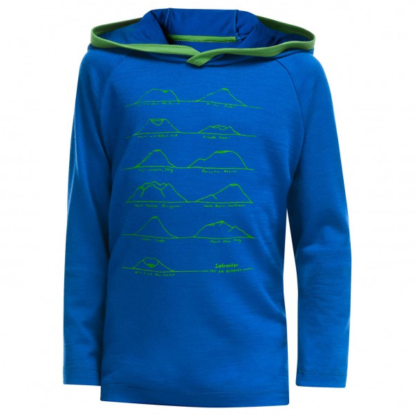 Icebreaker - Kid's Tech L/S Hood Blowers - Merinopullover
