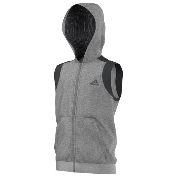 adidas - Kid's Locker Room Street Sleeveless Full Zip Hoodi