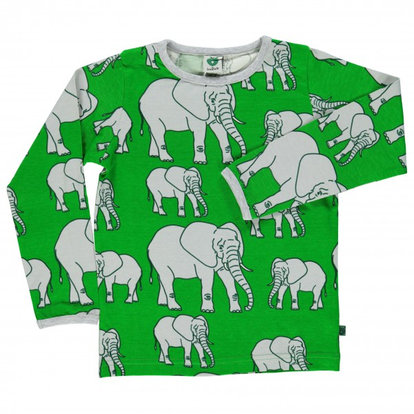Smafolk - Kid's Elephant T-Shirt L/S - Long-sleeve