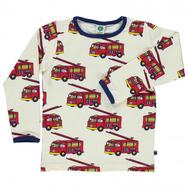 Smafolk - Kid's Firetruck T-Shirt L/S - Long-sleeve