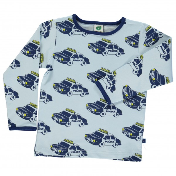 Smafolk - Kid's Police Car T-Shirt L/S - Long-sleeve