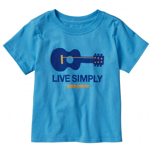 Patagonia - Baby Live Simply Guitar Cotton T-Shirt - T-paida