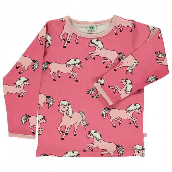 Smafolk - Kid's T-Shirt With Horses - Longsleeve
