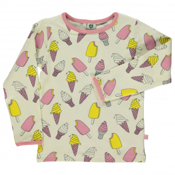 Smafolk - Kid's T-Shirt With Ice Cream - Longsleeve