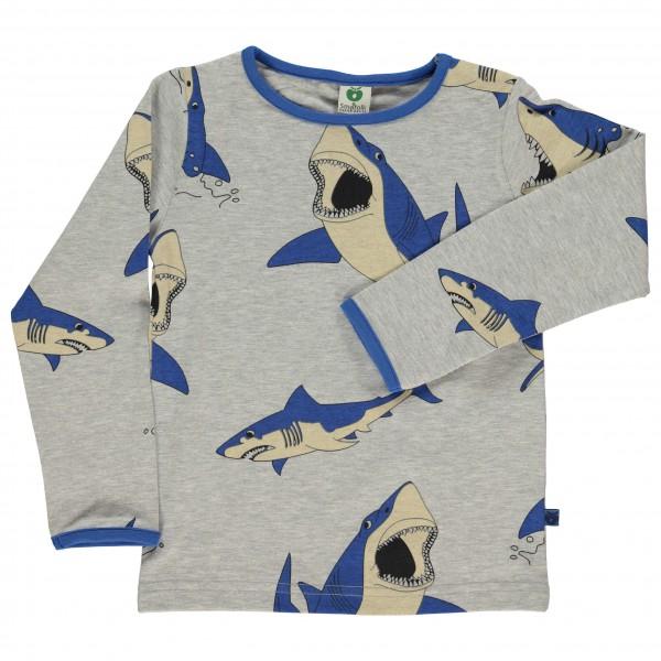 Smafolk - Kid's T-Shirt With Shark - Longsleeve