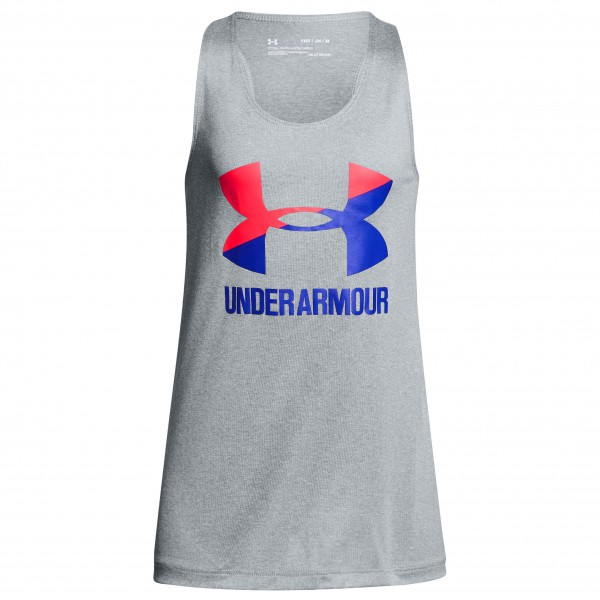 Under Armour - Kid's Big Logo Slash Tank - Camiseta sin mangas