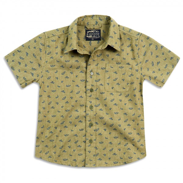 United By Blue - Boys Upstream Print Button Down - Camisa
