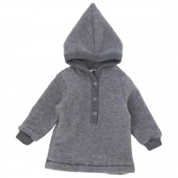 Mikk-Line - Kid's Wool Jacket w/Hat - Överdragströjor merinoull