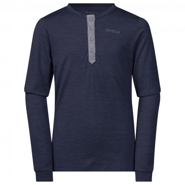 Bergans - Myske Wool Youth Shirt - Merinovillapulloverit