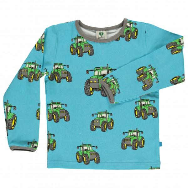 Smafolk - Kid's T-Shirt With Big Tractor - Longsleeve