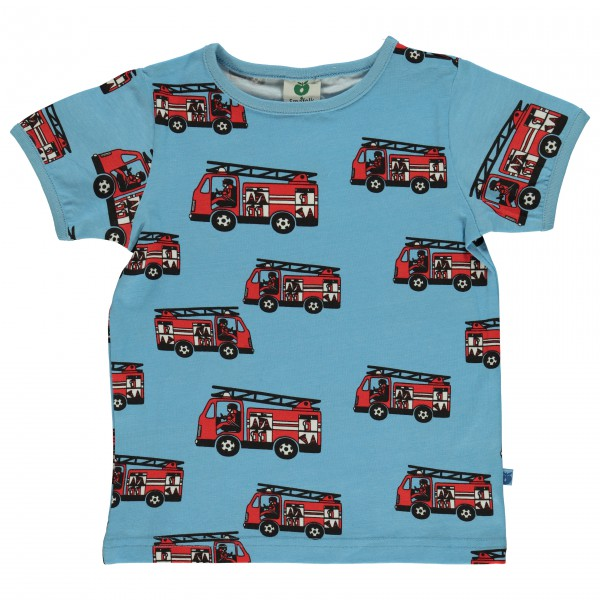 Smafolk - Kid's T-Shirt With Fire Truck