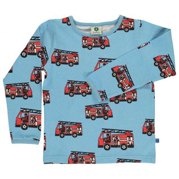 Smafolk - Kid's T-Shirt With Fire Truck L/S - Longsleeve