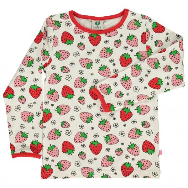 Smafolk - Kid's T-Shirt With Strawberry - Longsleeve