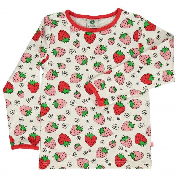 Smafolk - Kid's T-Shirt With Strawberry - Longsleeve