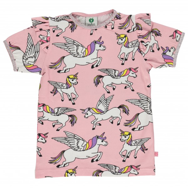 Smafolk - Kid's T-Shirt With Unicorn And Ruffles