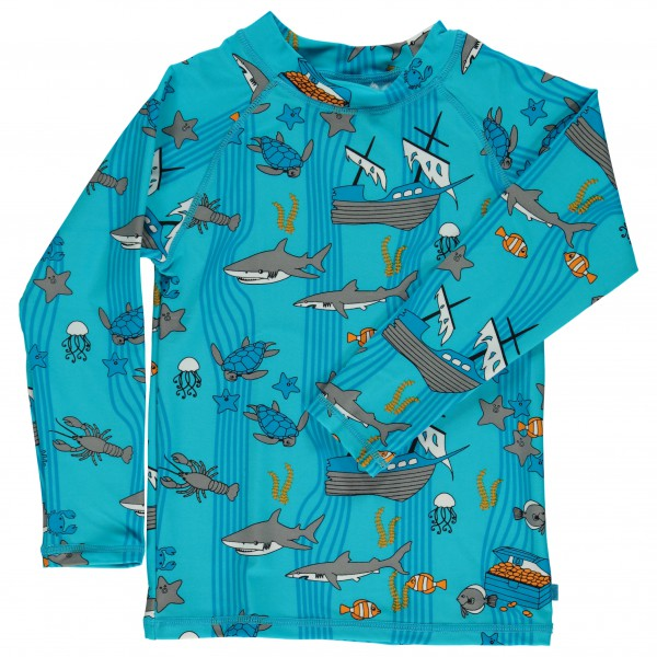 Smafolk - Kid's UV50 UV T-Shirt With Long Sleeve And Sea Wor - Longsleeve
