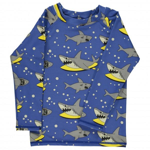 Smafolk - Kid's UV50 UV T-Shirt With Long Sleeve And Shark - Longsleeve