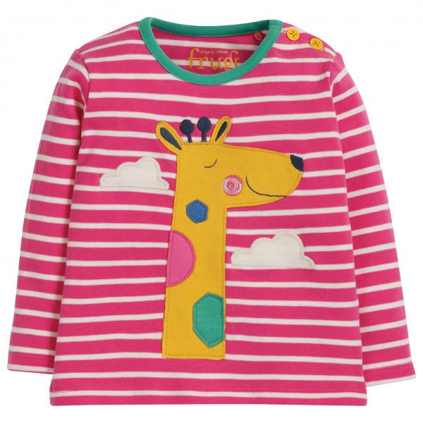 Frugi - Kid's Button Applique Top - Longsleeve