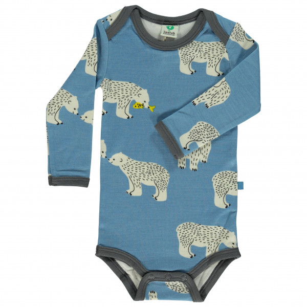 Smafolk - Kid's Wool Mix Body L/S with Bear - Overall