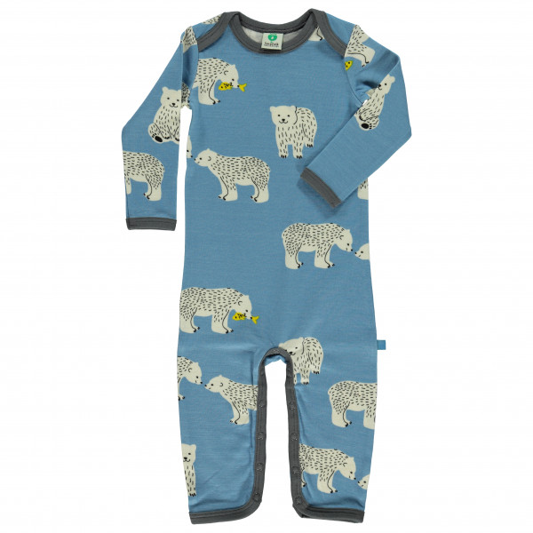 Smafolk - Kid's Wool Mix Body Suit L/S with Bear - Overall