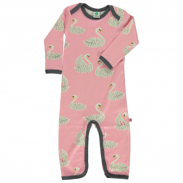 Smafolk - Kid's Wool Mix Body Suit L/S with Swans - Haalarit