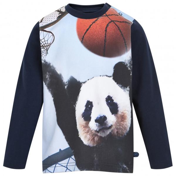 Minymo - Kid's T-Shirt Basketball Panda L/S with Print - Longsleeve