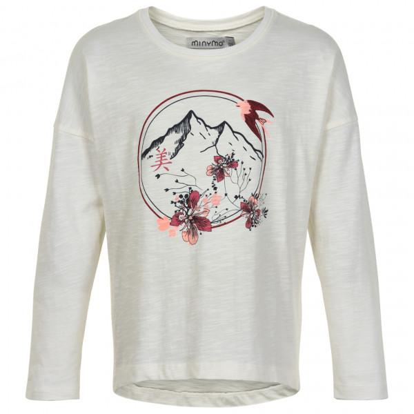 Minymo - Kid's T-Shirt Mountain Bird L/S with Print - Longsleeve